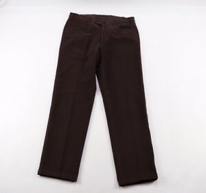 Phineas Cole Mens 34x30 Paul Stuart Dress Pants Chinos Brown Cotton Italy