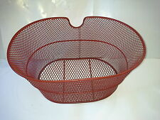 cestino cesto bici bicicletta rosso anteriore universale fissaggio a portapacchi