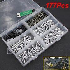 177x Silver Fairing Bolts Kit Fastener Clips Screws For Kawasaki Yamaha Suzuki
