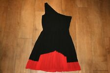 NEXT pleated one shoulder dress SIZE 8 party occasion club 50's swing WORN ONCE