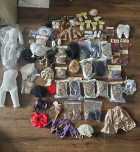 Huge DOLL WIG HAIR TALLINAS  LOT shoes clothes socks bodies most nos you get all
