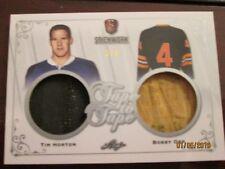 17-18 Leaf STICKWORK Hockey TAPE TO TAPE Dual Relics #5/6 Tim Horton, Bobby Orr