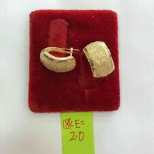 Gold Authentic 18k saudi gold earrings 2g,