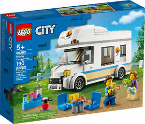 New! 60283 LEGO City Holiday Camper Van Set with Minifigures 190 Pieces Age 5+