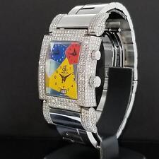 Jacob & Co. Capri JCO-57SS Factory 9 CT. Diamond Watch Multi Time Zone Quartz