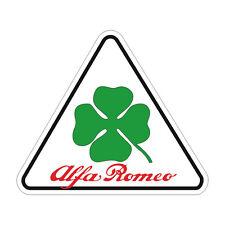 Sticker plastifié ALFA ROMEO Trèfle GTV Triangle- 8cm x 7cm