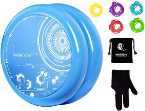 MAGICYOYO Blue Yoyo for Kids, D3 Plastic Responsive Loop Yoyo 2A Yoyo Ball with