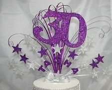 0053 CAKE TOPPER  18TH 21ST 30TH 40TH 50TH CAKE DECORATION STAR BURST CAKE SPRAY