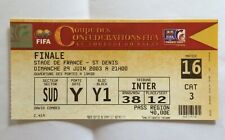 FINALE ticket coupe confédérations 2003 FRANCE - CAMEROUN football match 16FIFA