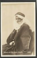 Postcard Palestine Middle East man An Arab Sheik RP