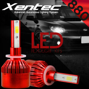 880 881 H27 6000K HID White 388W 38800LM LED Foglight Fog Lights Conversion Kit
