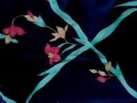 Iris Treillage black fabric handprint Leonard Fisher Signature Group 5.3 yards