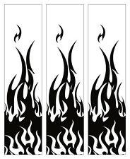 """15 Black Flames on White Arrow Wraps 4x1"""""""