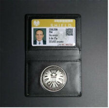 Agents of shield S.H.I.E.L.D. Metal Badge & Leather ID Holder Coulson Wallet Toy