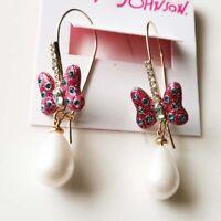 New Betsey Johnson Butterfly Drop Earrings Best Gift Fashion Women Party Jewelry