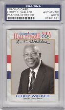 LeRoy T. Walker Signed Autograph 1991 Impel U.S. Olympic Hall of Fame PSA DNA