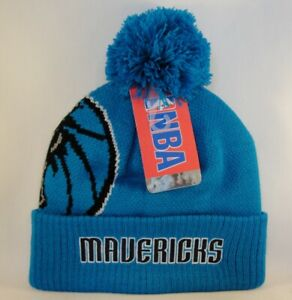Dallas Mavericks NBA Cuffed Knit Pom Hat