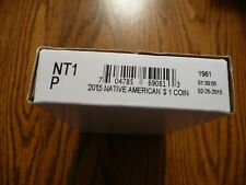 """2015-P  Native American """"Unopened mint box"""" Dollar 25 Coin ROLL"""