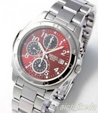 SEIKO SND495P1 Chronograph Red Dial Men's Watch From Japan