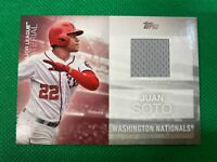 ⭐️👀 2020 Topps Major League Materials #MLMJSO Juan Soto S2 Nationals Relic 👀⭐️