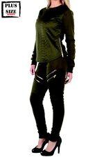 NWT Womens Red Fox Brand Sexy Stretchy Black Moto Sweat Pants So Comfy Sz 2XL