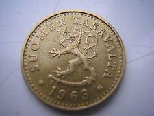 Finland, 10 Pennia, 1963, AU(55-58), Aluminum-Bronze, KM:46