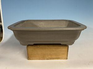 "Older Grey Clay Tokoname Keizan Bonsai Tree Pot 18 7/8"""