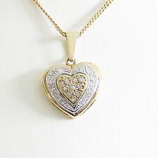 Anhänger Gold 585er 0,21 ct Diamantherz 14 kt Goldschmuck Edelsteine Damen