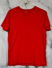 GAP Solid Red Shirt XL 100% Cotton Short Sleeves Made in Egypt Unlined Classic