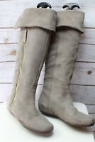 Steve Madden Flat Taupe Suede Knee High 6.5 Women's Boots