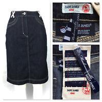 NWT - SAINT JAMES Jeans - blue denim signature skirt - 38