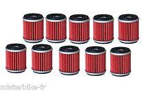 Pack / Lot de 10 Filtres a huile Pour YAMAHA 250 450 YZF WRF 03 A 09 2003-2009