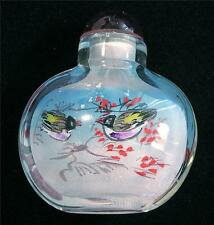 DECORATIVE SNUFF BOTTLE Painted From Inside BIRDS
