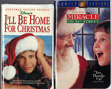 I'll Be Home For Christmas (VHS, 1999) & Miracle on 34th Street (VHS, 1995)
