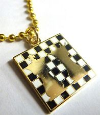 Chess Queen King Checkmate Board Game Backpack Pendant Necklace w/ ball chain