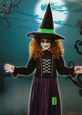Kinder Kostüm Hexe Zauberin Grusel Halloween Horror Fasching Karneval Größe S