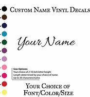 Single CUSTOM NAME VINYL WALL DECAL STICKER ART -Personalized