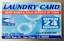 Dexter Easy card. 500 Cards. Laundry Card. Custom PVC Card operated Laundromat.
