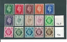 GB - GEORGE V1 -G640- 1937 DEFINITIVE SET - 15 VALUES - UNMOUNTED MINT