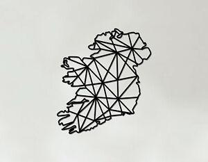 Ireland Art - Wooden Laser Cut Wall Art - Geometric Country Art