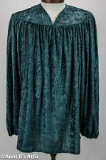 Renaissance Peasant Shirt Emerald Green Velour Men's Costume Shirt One Size