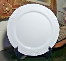 """Villeroy and Boch 12 1/2"""" White Round Serving Platter Charger Foglia Luxembourg"""