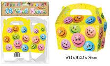 10 HAPPY FACE trattare caselle-Piccolo Cupcake CIBO bottino regalo in cartone