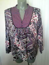 Ladies Womens Long Sleeve Cotton Boho Peasant Blouse Shirt Top Millers Size 20