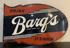 Barqs Root Beer Metal Flange Soda Sign