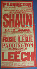 More details for edwardian liverpool theatre poster bioscope ventriloquist stage music hall 1906