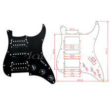 Loaded Pickguard For Fender Strat Guitar Prewired Pickup Scratch Plate HSH Black