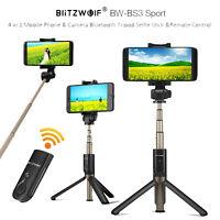 BlitzWolf BW-BS3 Sports Bluetooth Remote Control Tripod Monopod Selfie Stick