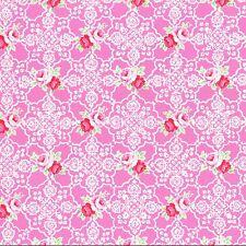 1 Yard Shabby Flower Sugar Sweet Carnival Pink Rose Lace 31377 20 Lecien Retro
