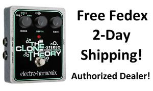 New Electro-Harmonix EHX The Clone Theory Stereo Analog Chorus Vibrato Pedal